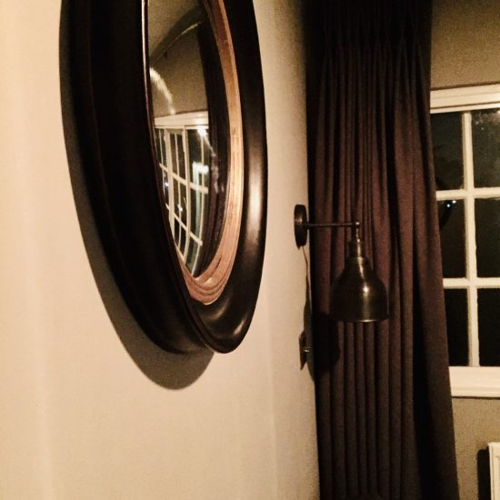 mirror and curtain detail