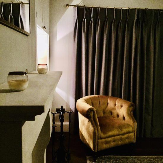 mustard velvet chair