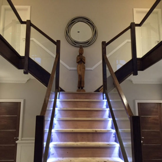 concealed lighting on bespoke staircase