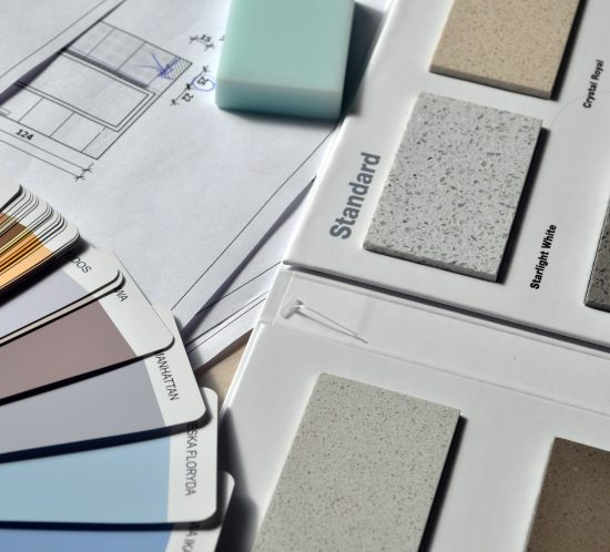 worksurface samples and paint colours