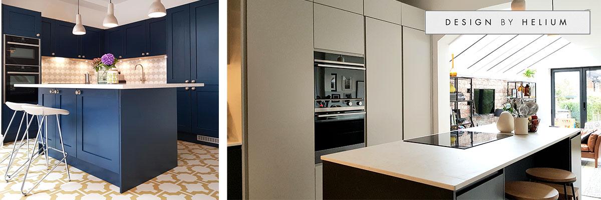 modern kitchen designs by Design by Helium
