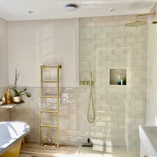 taupe gloss wall tiles
