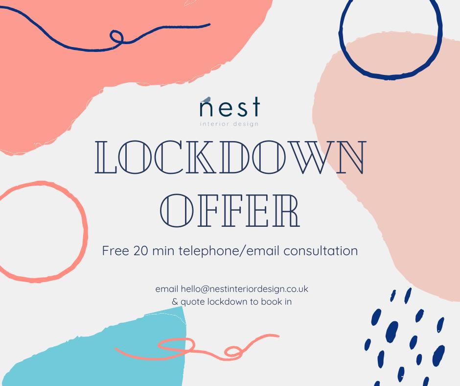 lockdown offer free interior design consultation
