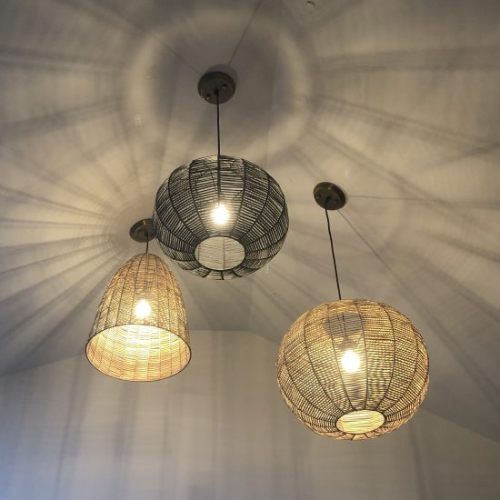 rattan wicker lighting multi group